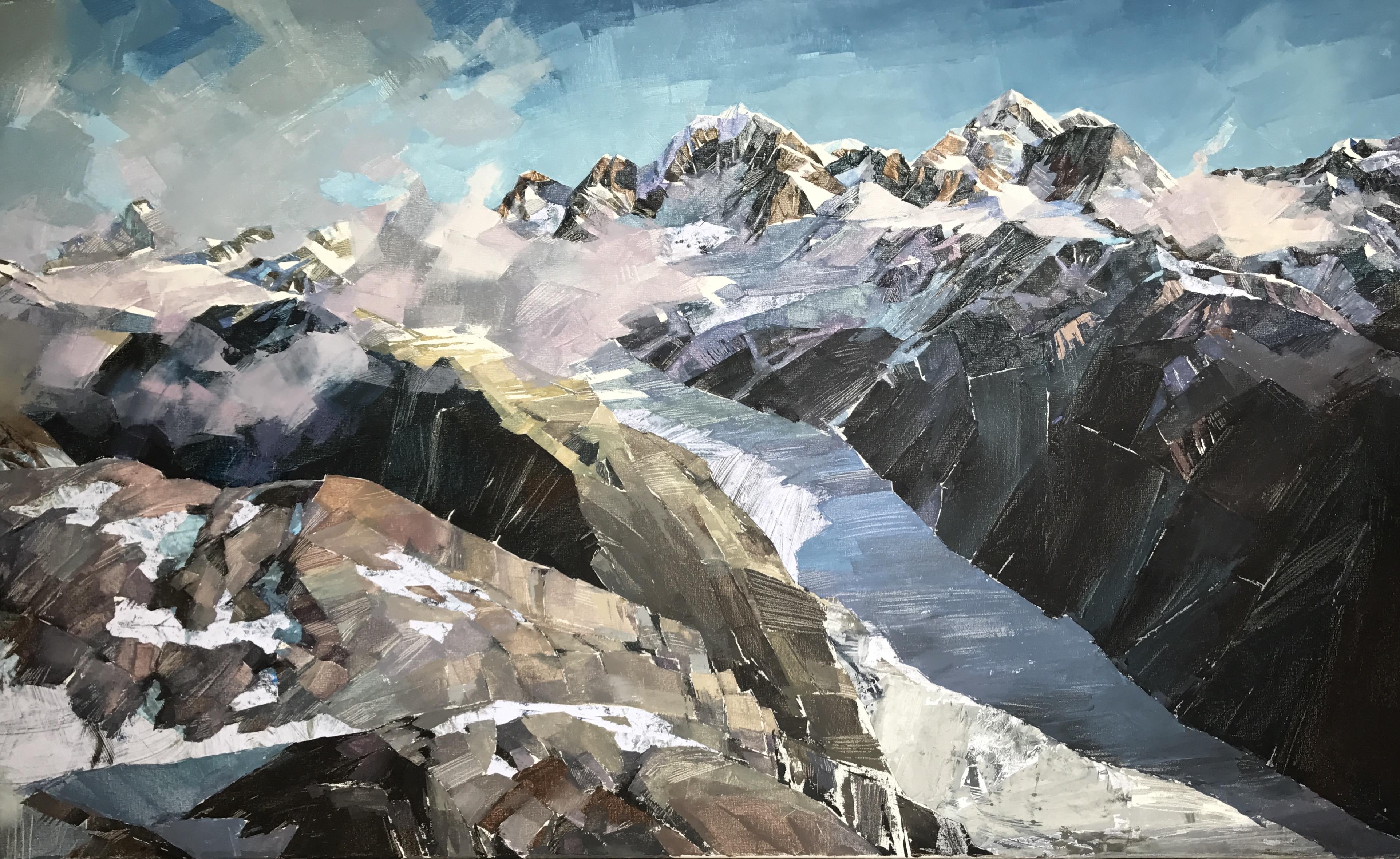 KIM Galina- 4_Fox Glacier_acrylic and mixed media