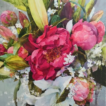 """Peonies and Lilies"""