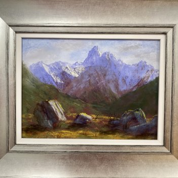 'Mt Somnus from the Routeburn Valley'