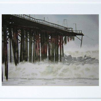 big swell, incoming storm