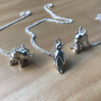 Silver Dinkie, Kotare & Snowflake Necklace
