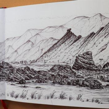 Palliser Bay.... preliminary sketch