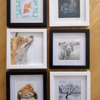 Small frame drawings