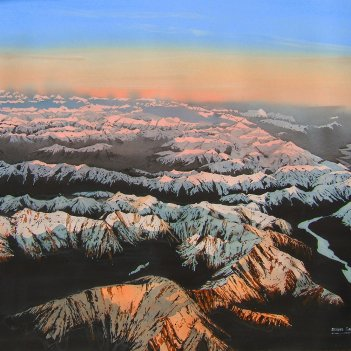 last light, Southern Alps