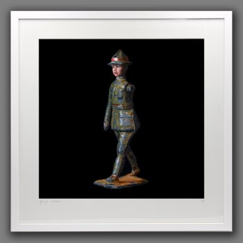 Mummy when I grow up I'm going to be a Soldier - framed print