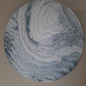 """WINTER RUNOFF SERIES """"white rose"""" (40cm)"""