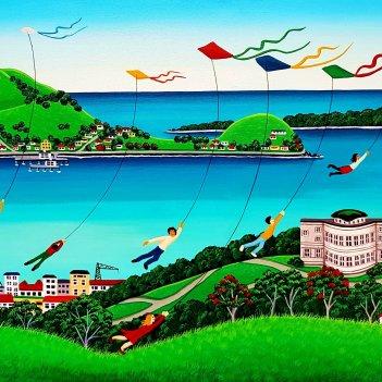 Kites Over Mt. Eden
