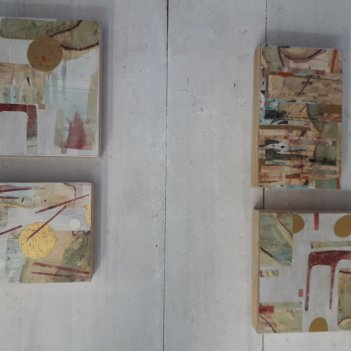 Small collage on plywood series